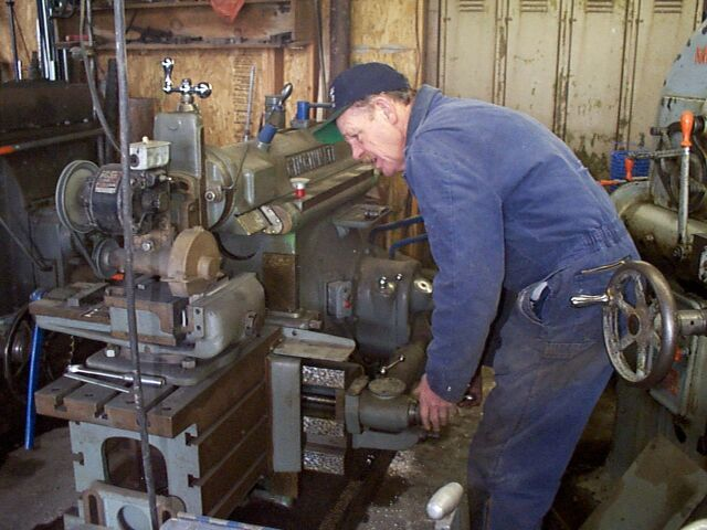Shaper/surface grinder with antique operator!